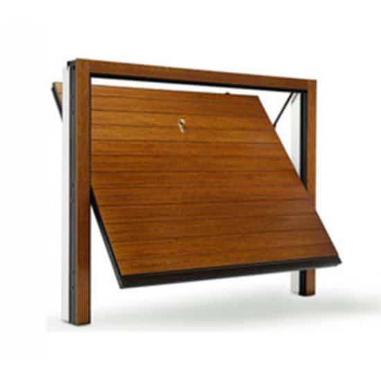 Porte basculante en bois